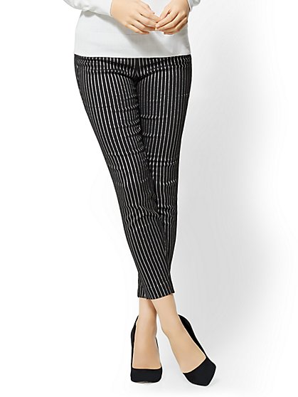 7th Avenue Pant - Slim Ankle - Modern - Metallic Pinstripe - New York & Company
