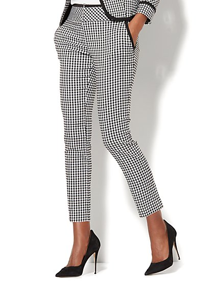 7th Avenue Pant - Slim Ankle - Signature - Gingham - New York & Company