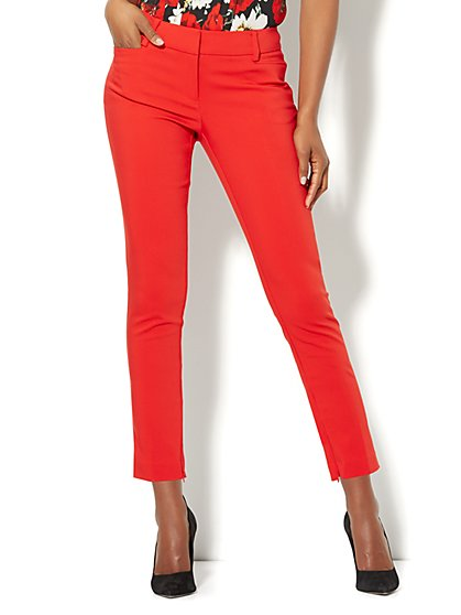 7th Avenue Pant - Slim Ankle - Signature - Red - New York & Company