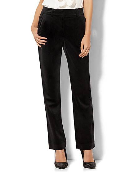 7th Avenue Pant - Slim-Leg - Runway - Black Velvet - New York & Company