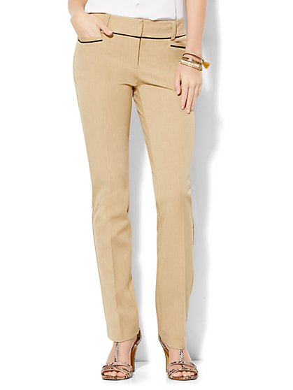 7th Avenue Pant - Slim-Leg - Runway - Piped - SuperStretch - New York & Company