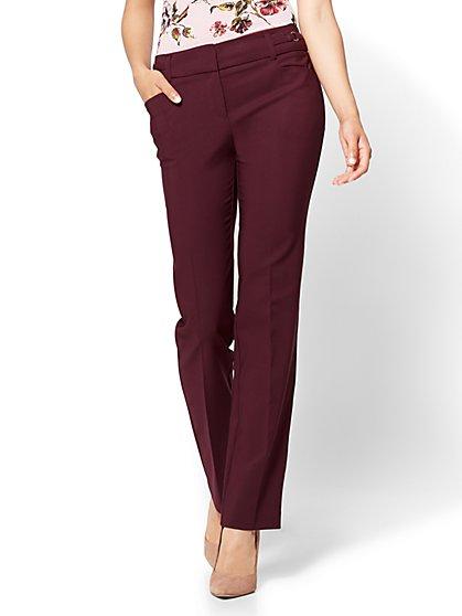 7th Avenue Pant - Straight Leg - Modern - All-Season Stretch - Burgundy - New York & Company