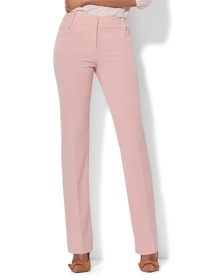 7th Avenue Pant - Straight Leg - Modern - Double Stretch - Tall - New York & Company