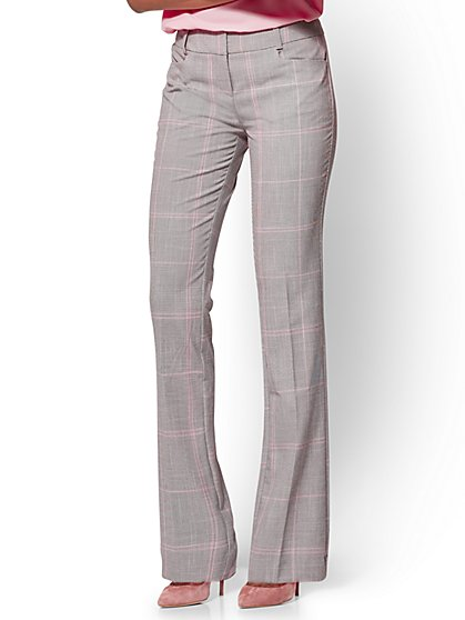 7th Avenue Pant - Straight-Leg - Modern - Plaid - Tall  - New York & Company