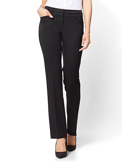 7th Avenue Pant - Straight Leg - Signature - Black - Tall - New York & Company