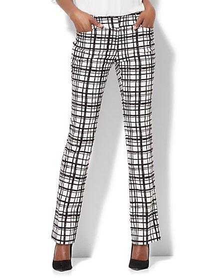 7th Avenue Pant - Straight-Leg - Signature - Check Print - New York & Company