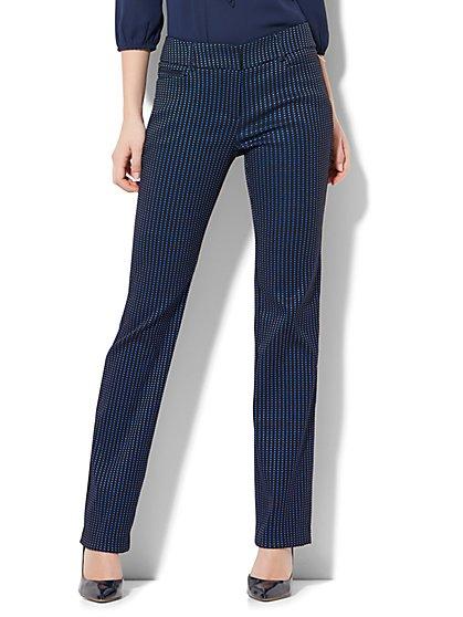 7th Avenue Pant - Straight-Leg - Signature - Dot Print - New York & Company