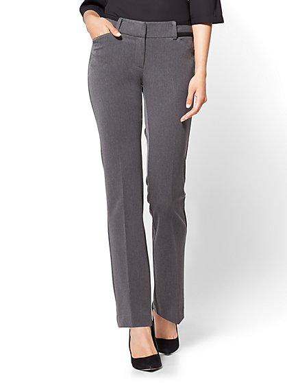 7th Avenue Pant - Straight Leg - Signature - Grey - Tall  - New York & Company