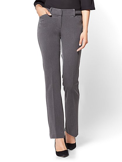 7th Avenue Pant - Straight Leg - Signature - Grey  - New York & Company