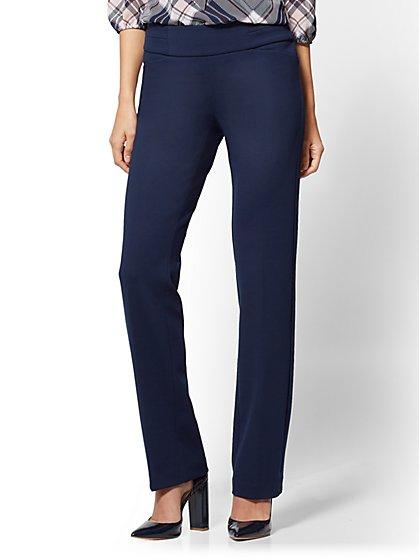 7th Avenue Pant - Straight Leg - Signature - Pull-On - Ponte - Tall - New York & Company