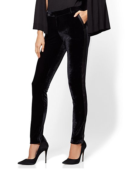 7th Avenue Pant - Tuxedo Slim Leg - Modern - Velvet - New York & Company