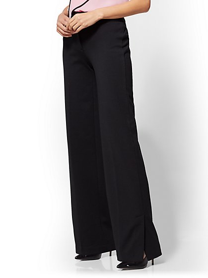 7th Avenue Pant - Wide Leg - Black - New York & Company