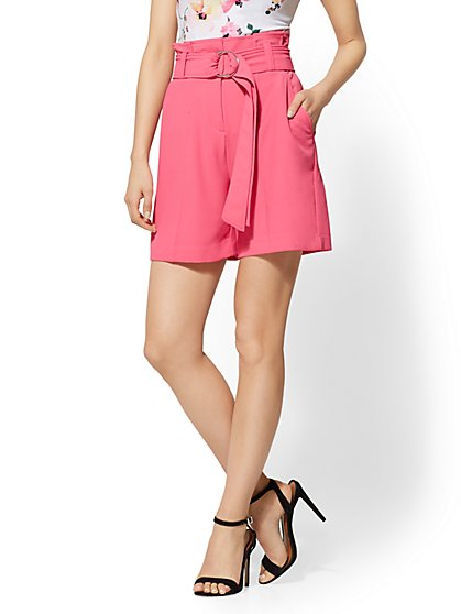 7th Avenue - Paperbag-Waist Short - New York & Company