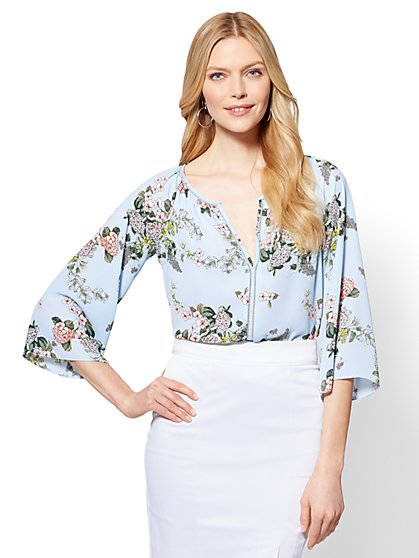 7th Avenue - Peasant Blouse - Floral - New York & Company
