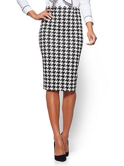 7th Avenue - Pencil Skirt - Modern - Houndstooth  - New York & Company