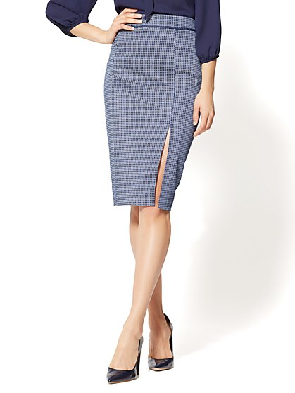 7th Avenue - Pencil Skirt - Navy - Daisy Print - New York & Company