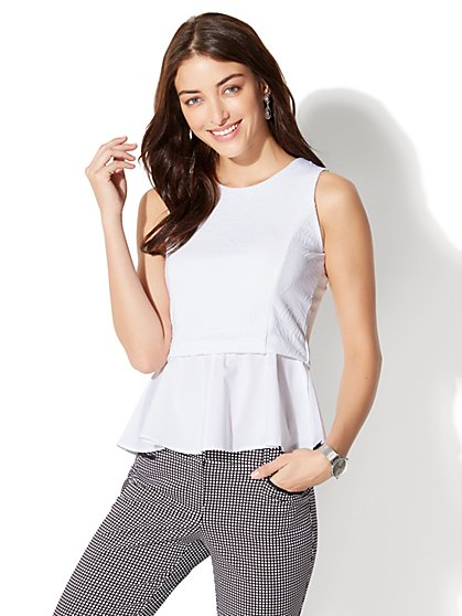 7th Avenue Peplum Top - New York & Company