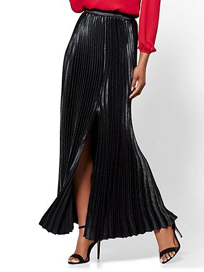 7th Avenue - Pleated Maxi Skirt - New York & Company