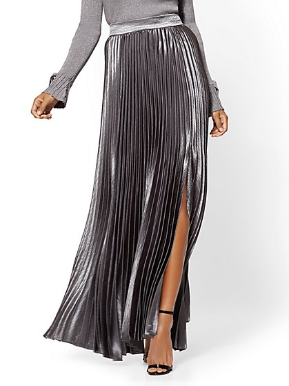 7th Avenue - Pleated Maxi Skirt - New York & Company