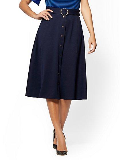 7th Avenue - Ponte A-Line Skirt - New York & Company
