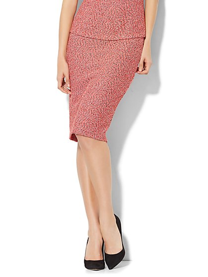 7th Avenue - Pull-On Pencil Skirt - Red - New York & Company