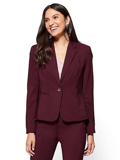 7th Avenue - Ruffled-Back Jacket - Petite - New York & Company