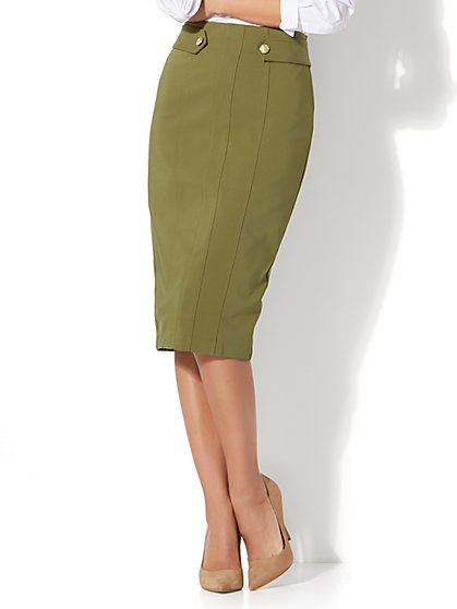 7th Avenue - Seamed Pencil Skirt - New York & Company
