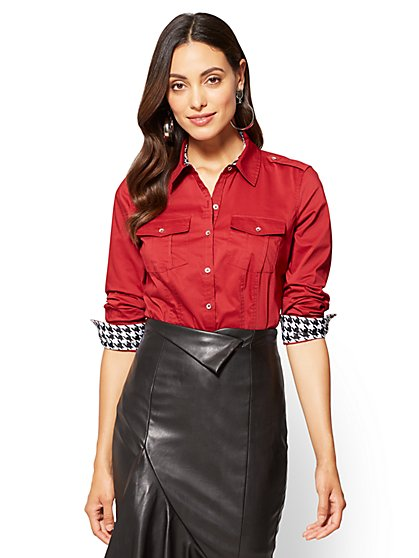 7th Avenue SecretSnap Madison Stretch Shirt - Petite  - New York & Company