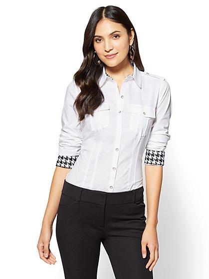 7th Avenue SecretSnap Madison Stretch Shirt - Tall  - New York & Company