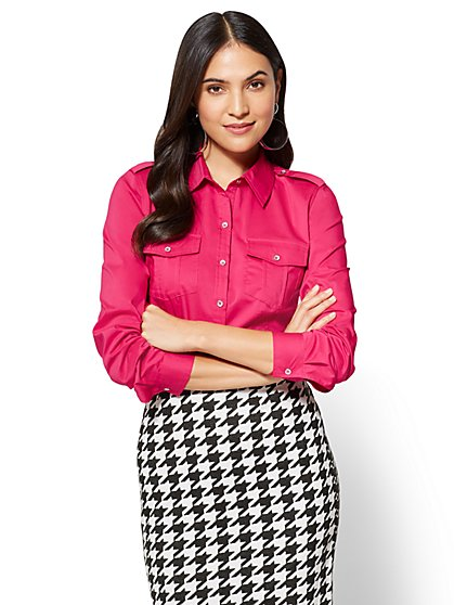 7th Avenue SecretSnap Madison Stretch Shirt  - New York & Company