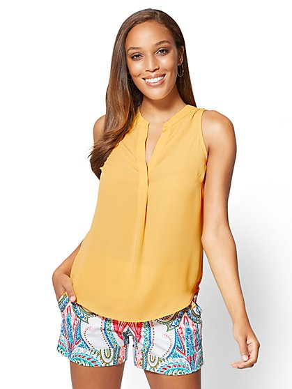 7th Avenue - Sleeveless Blouse - Petite - New York & Company