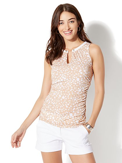 7th Avenue Sleeveless Top - Tan - New York & Company