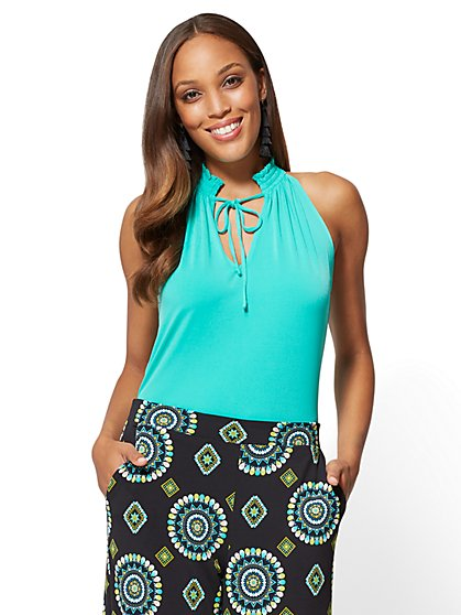 7th Avenue - Smocked Halter Top - New York & Company