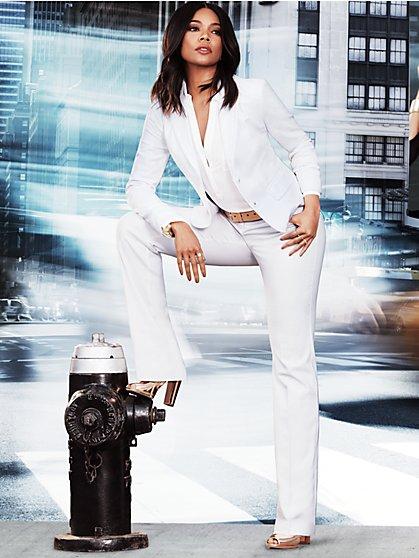7th Avenue - Straight Leg Pant - Signature - White - Tall - New York & Company