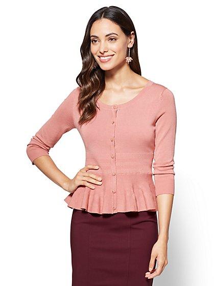 7th Avenue - Sweater Collection - Peplum Cardigan  - New York & Company