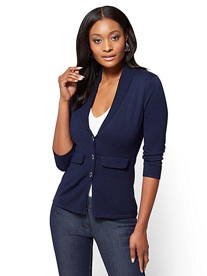 7th Avenue Sweater Collection - Shawl-Collar Cardigan  - New York & Company