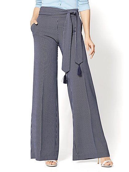 7th Avenue - Tassel-Belt Palazzo Pant - New York & Company