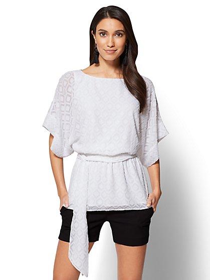 7th Avenue - Textured Kimono Blouse - New York & Company