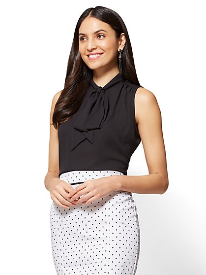 7th Avenue - Tie-Front Sleeveless Blouse - Modern - New York & Company