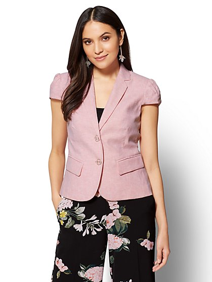 7th Avenue - Two-Button Jacket - Peach - New York & Company