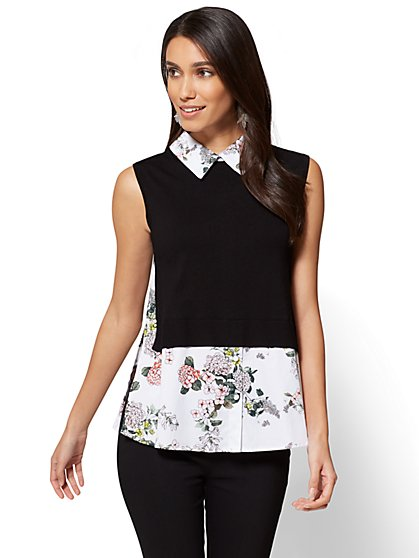 7th Avenue - Twofer Top -Floral - New York & Company