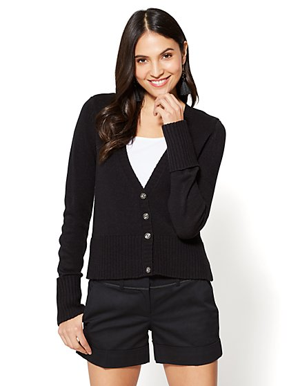 7th Avenue - V-Neck Cardigan - New York & Company