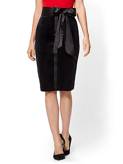 7th Avenue - Velvet Pencil Skirt - New York & Company