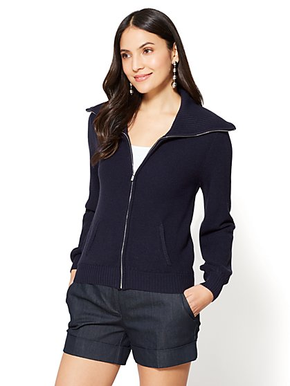 7th Avenue - Zip-Front Cardigan - New York & Company
