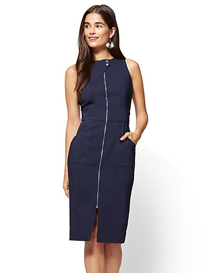 7th Avenue - Zip-Front Sheath Dress  - New York & Company