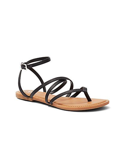 Ankle-Strap Flat Sandal  - New York & Company