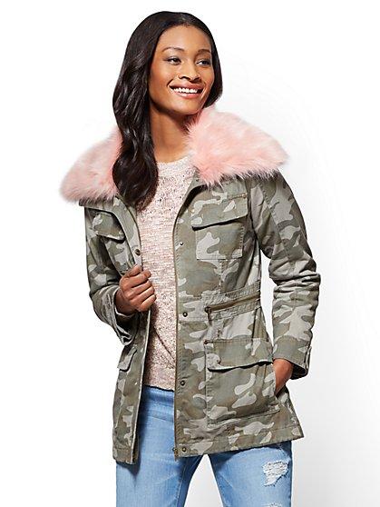 Anorak Jacket - Camouflage Print - New York & Company