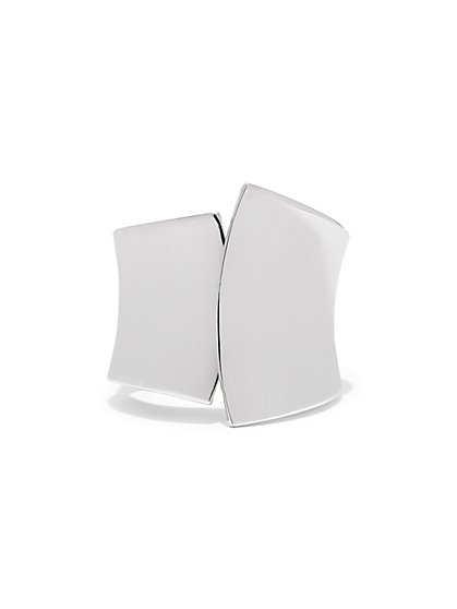 Asymmetrical Polished Cuff Bracelet  - New York & Company