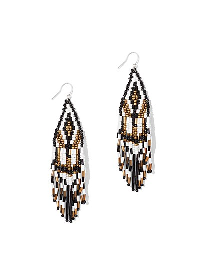 Aztec Fringe Drop Earring  - New York & Company