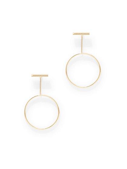 Bar-Accent Circular Drop Earring  - New York & Company